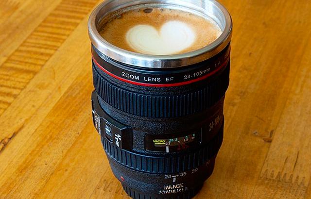 カメラレンズ型タンブラー